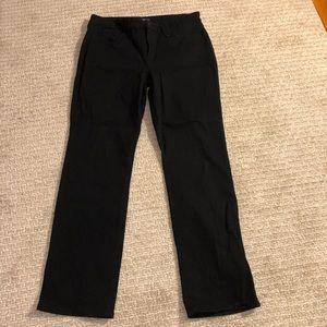 NYDJ. 16. Black straight leg jeans